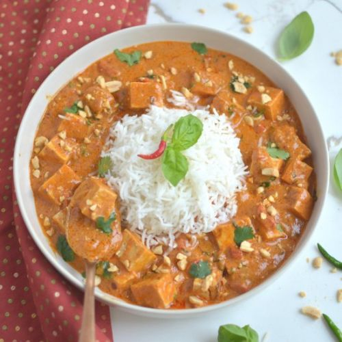 THAI PEANUT CURRY AND RICE