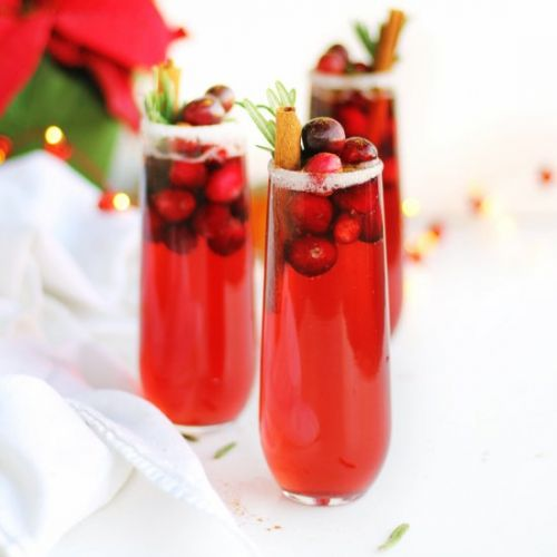 Cranberry orange holiday mimosa