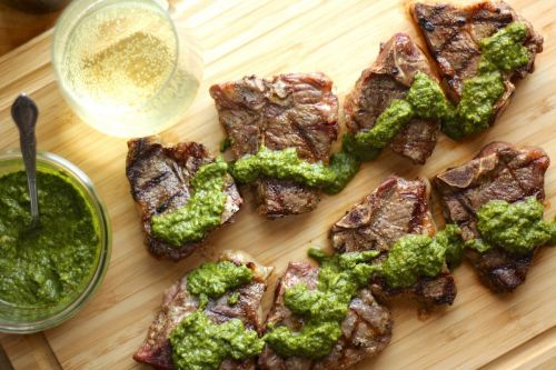 Vinho Verde Wine with Grilled Lamb and Mint Sauce