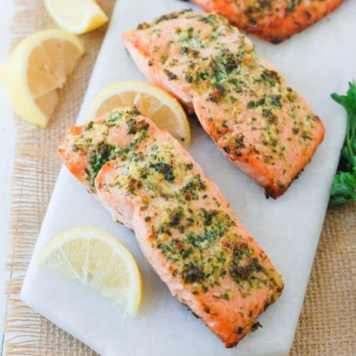 Clean Eating Easy Baked Salmon
