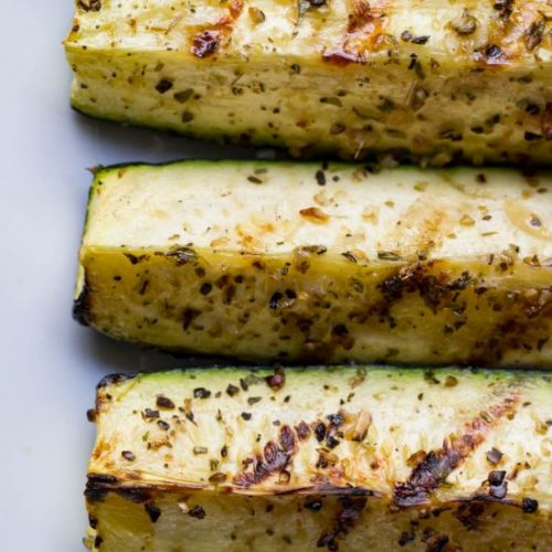Traeger grilled zucchini