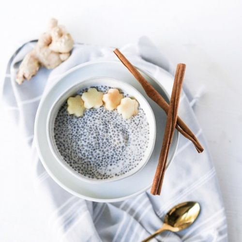 Prebiotic Apple Ginger Chia Pudding