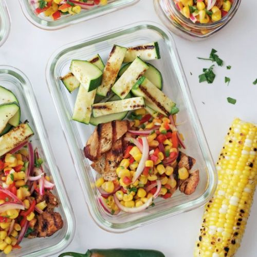 Grilled Adobo Chicken & Corn Relish