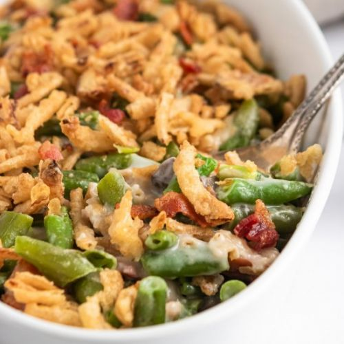 Parmesan Bacon Green Bean Casserole