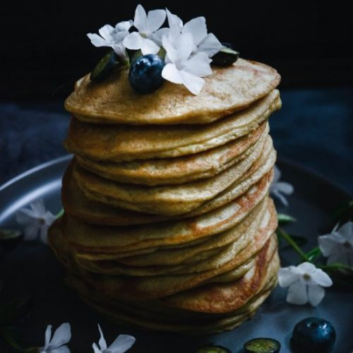 Cardamom orange flower pancakes