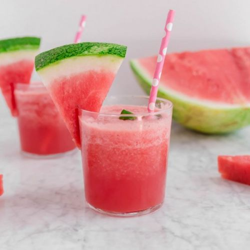 Frozen Watermelon Rosé Wine Slushie