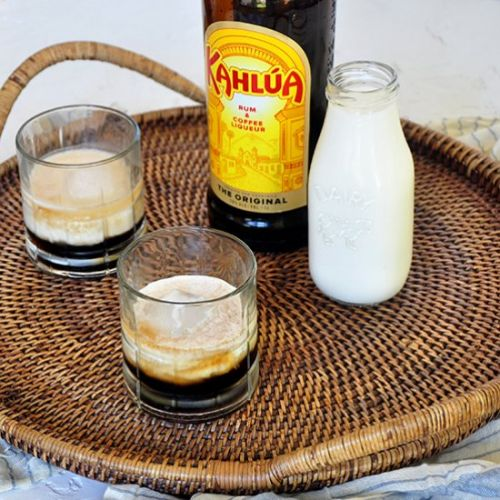 Classic White Russian Cocktail
