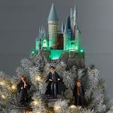 """Aw! This Harry Potter Hogwarts Christmas Tree Topper Plays """"Hedwig's Theme"""""""