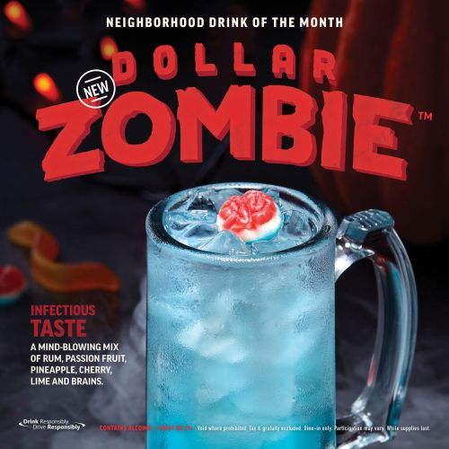 The DOLLAR ZOMBIE Rises from the Grave to Invade an Applebee's Near You This October