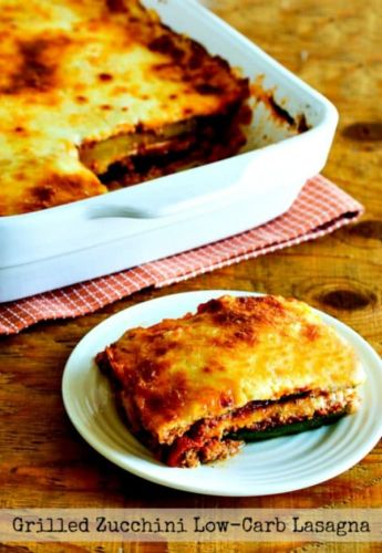Grilled Zucchini Low-Carb Lasagna with Italian Sausage, Tomato, and Basil Sauce