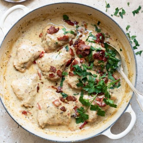 Rosemary and bacon chicken