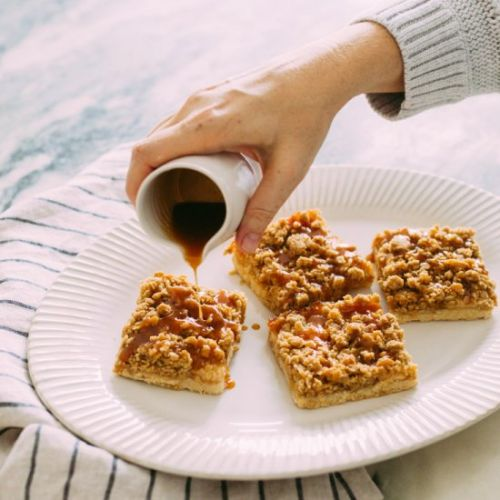 Sea Salted Caramel Apple Bars