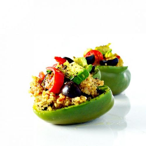 Spicy Quinoa-Stuffed Peppers