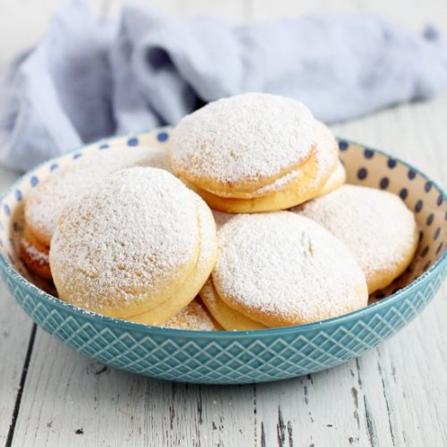 Baked donuts with jam fillig