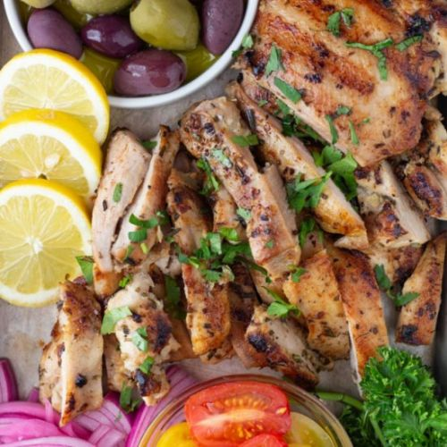 Mediterranean Garlic Chicken