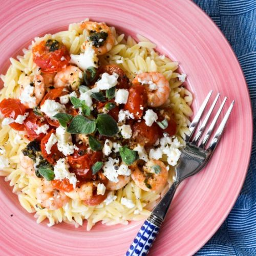 15-Minute Orzo with Prawns