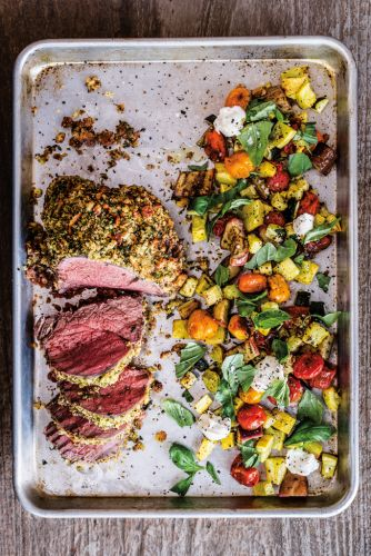 Herb-Crusted Beef Tenderloin with Ratatouille