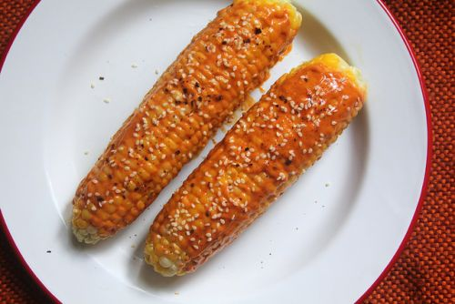 Corn on the Cob with Gochujang Mayo