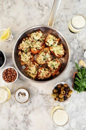 White Bean Skillet Crostini