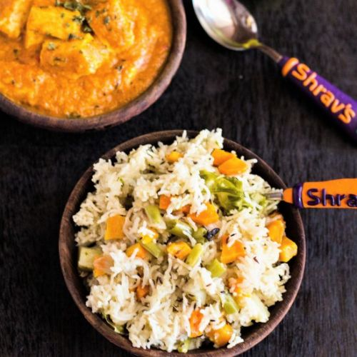 VEGETABLE PULAO IN COOKER