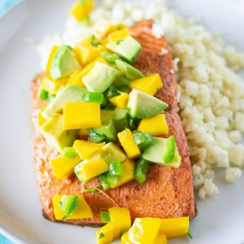 Chili Lime Salmon with Mango Salsa