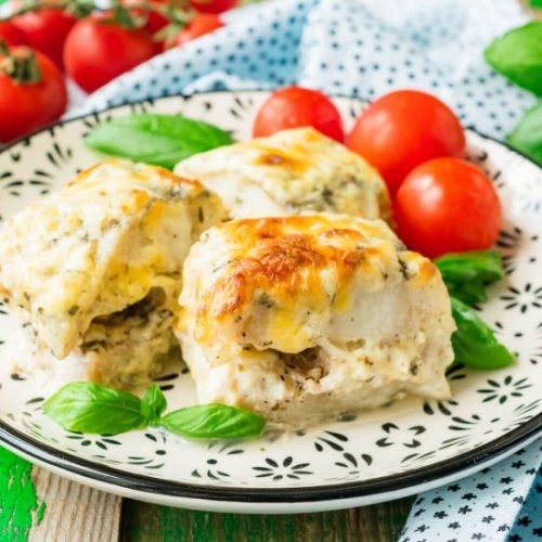 Baked Pollock with Bechamel Sauce