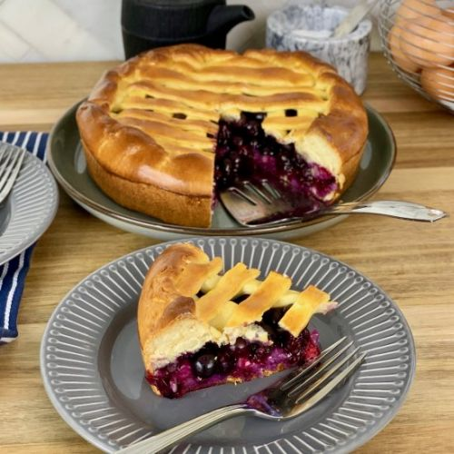 Russian Blueberry Pie