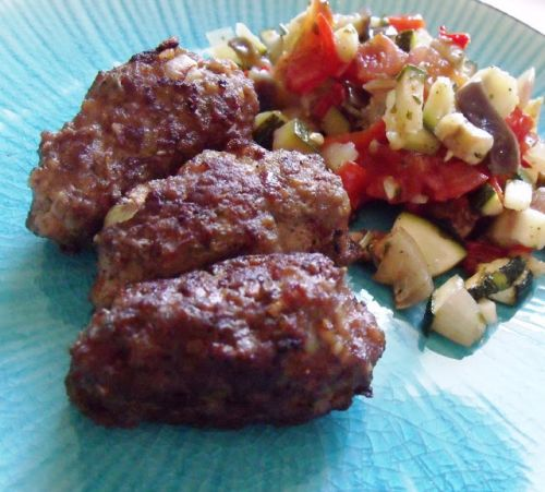 Roasted Ratatouille and Cevapcici