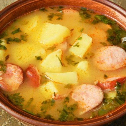 Smoked Sausage Potato Soup