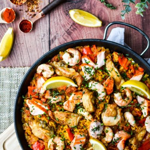 Salmon & Meat Paella