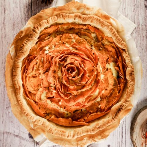 Sweet Potato and Goat Cheese Quiche