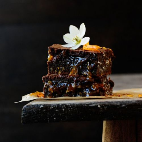 Fudgy chocolate orange brownie