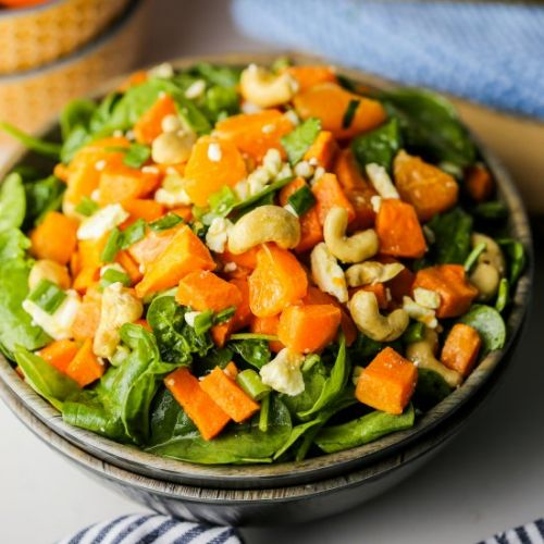 Sweet Potato Orange Spinach Salad
