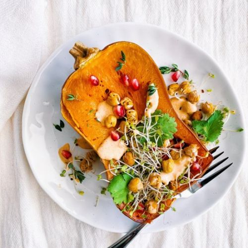 Honeynut Squash with Chickpeas