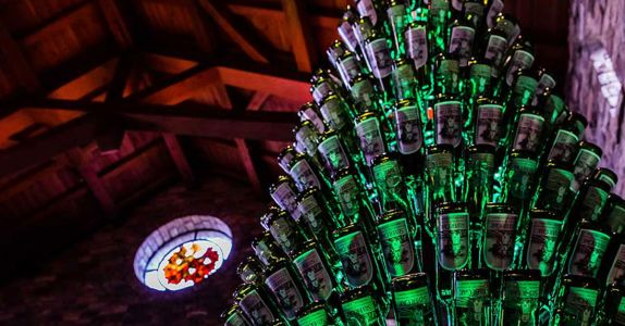 This California Winery's Christmas Tree is Made Out of 577 Wine Bottles