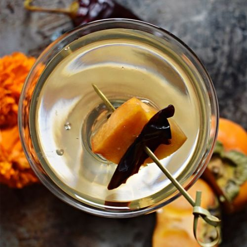 Pickled Persimmon Martini
