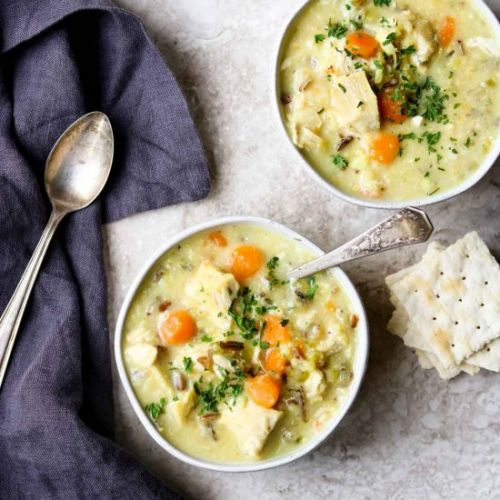 Instant Pot Chicken & Rice Soup