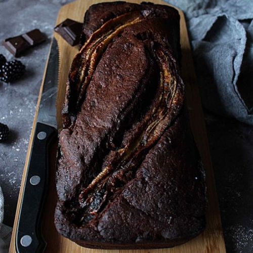 All chocolate banana loaf