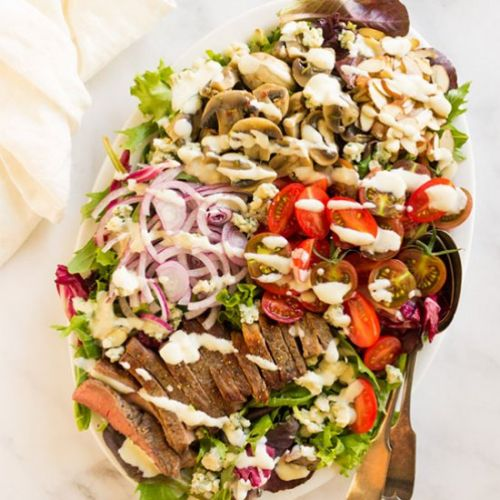 Loaded steak salad