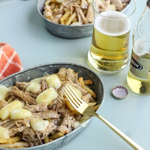Slow Cooker Pork & Ale Poutine