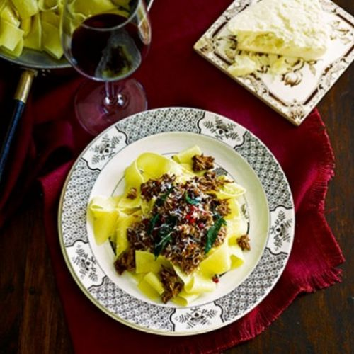 Lamb ragout with pappardelle