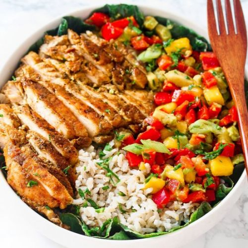Chicken and Mango Salsa Bowl