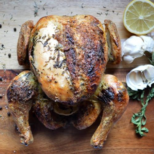 Roast Chicken with Lemon and Herbs