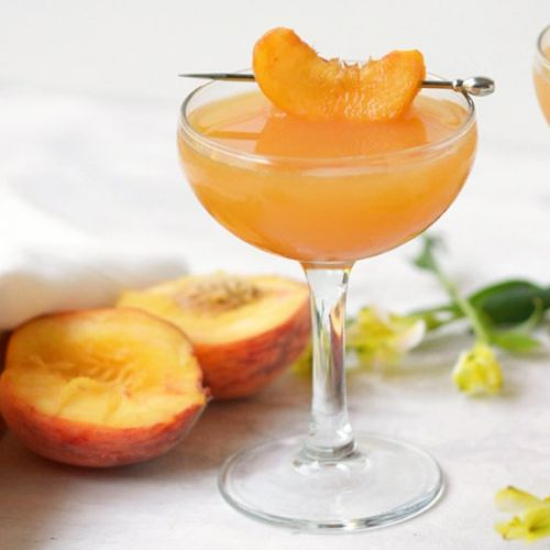 Peach Mezcal Cocktail
