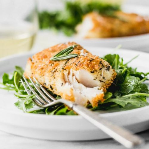 Parmesan Rosemary Crusted Fish