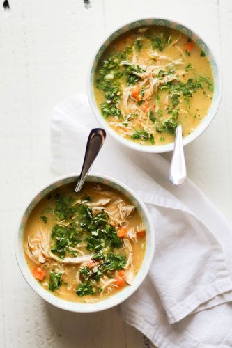 Instant Pot Lemon Chicken Soup with Herbs
