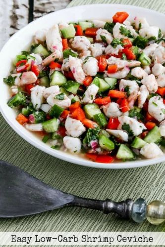 Easy Low-Carb Shrimp Ceviche