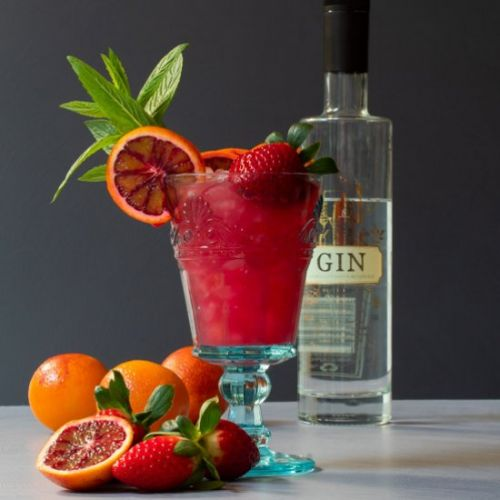 Blood orange pomegranate gin Daisy