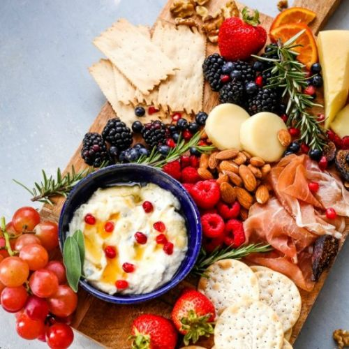 Cheese Tray with Sage Honey Ricotta