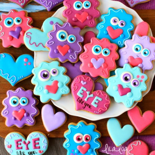 How To Make Decorated Love Monster Sugar Cookies